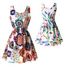 2016 Fashion Summer Hot Sexy Women Tank Chiffon Beach Dress Sleeveless Sundress Floral Mini Dresses M-XXL 21 Colors New Arrival(China (Mainland))
