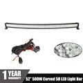 CREE Chips 5D Curved LED Light Bar 500W 52 for Car ATV SUV Auto LED Bar
