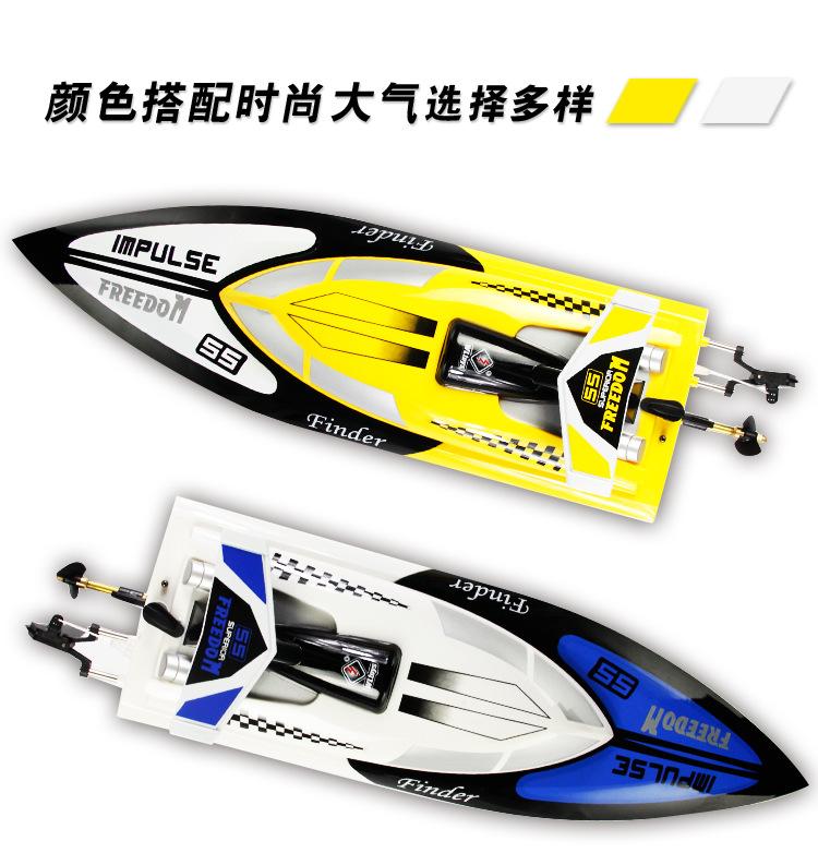 High simulation 2.4G remote control boat High-Speed Professional Regatta Anti-Capsize Model Boat Boy Toys Motorboat Yacht Model(China (Mainland))