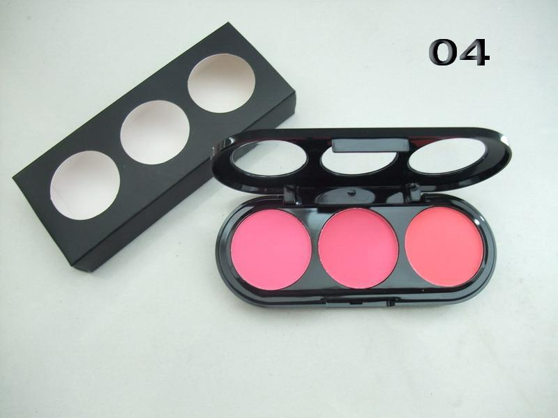 Factory direct sale!NEW 3 Color Makeup Cosmetic Blush Blusher Powder Palette (36pcs/lot) Free Shipping DHL(China (Mainland))