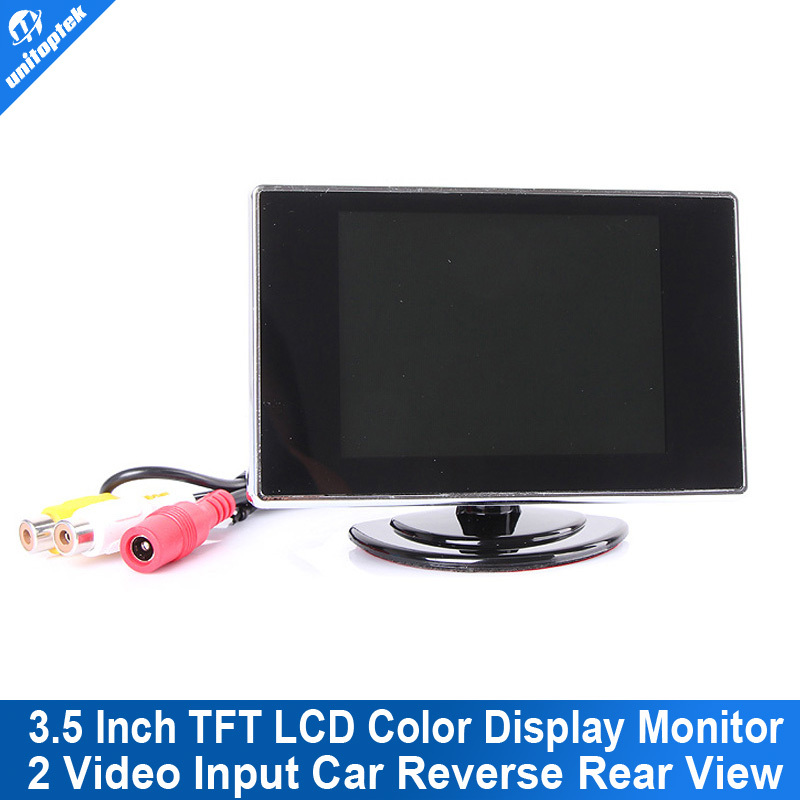 Mini 3.5 Inch TFT LCD Color CCTV Camera Monitor Rearview Rear view Monitor screen for Car Backup RearView Camera 2 video input