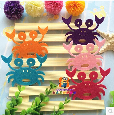 Reusable crab wall stickers kids rooms, DIY Child Home decor - Love green store