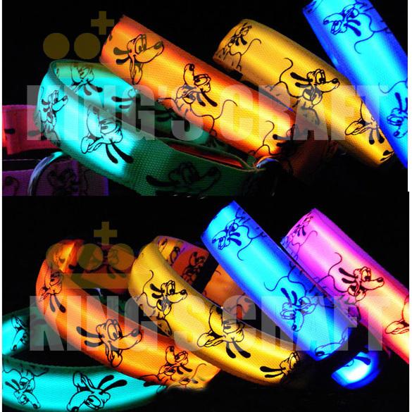 Luminous LED Pet Collar , Glow Dog  Flashing Safety Collar Light Up  Mixed Color Free Shipping
