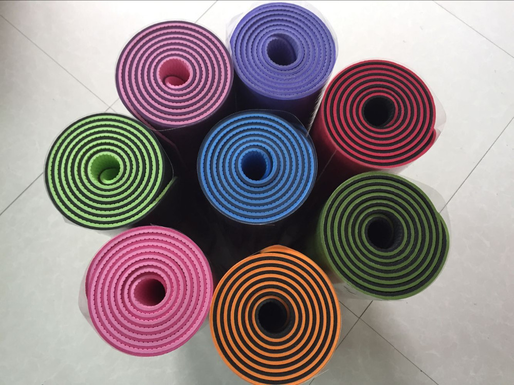 Yoga Blanket Health Care 6mm Thick Exercise Yoga Mat Pad TPE Non-Slip Lose Weight Exercise Fitness Folding Gymnastics Cushion cheap