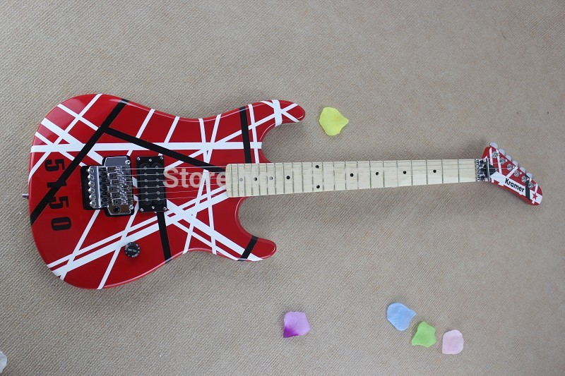 Wholesale - New Brand arrival guitar kramer 5150 RED and white EVH series ARI tremolo Electric guitar in stock 150604(China (Mainland))