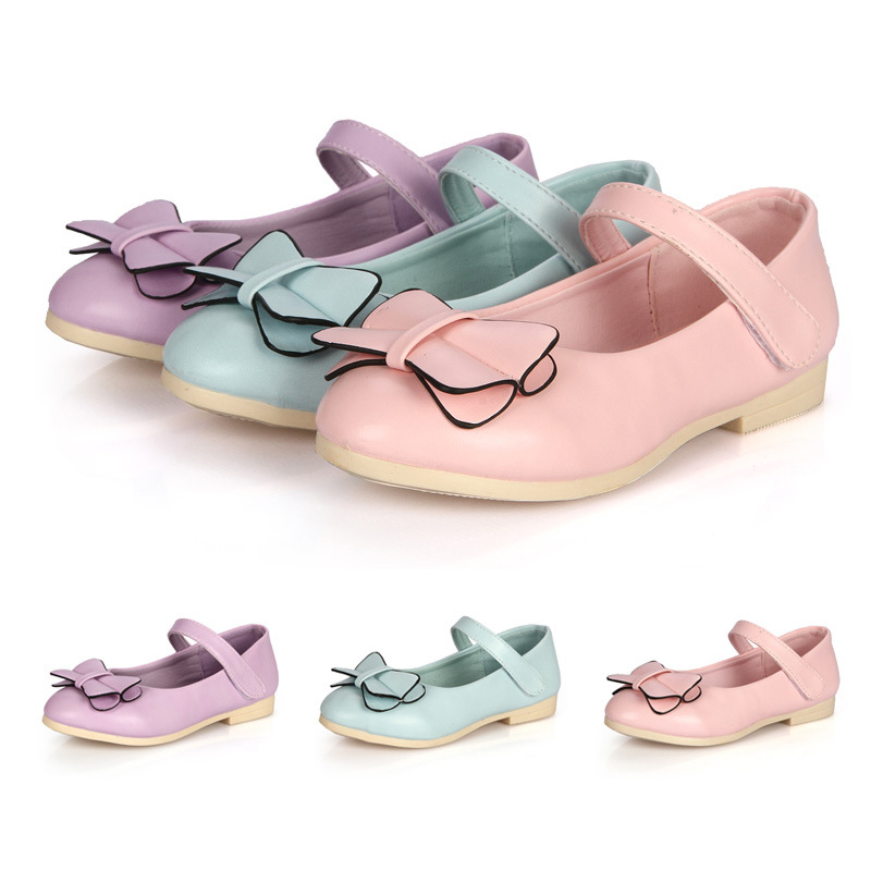 Baby girls PU leather shoes High heels Princess shoes for Baby girl Rubber sole Sandals with Bow sapatos princesa Kids baby shoe(China (Mainland))