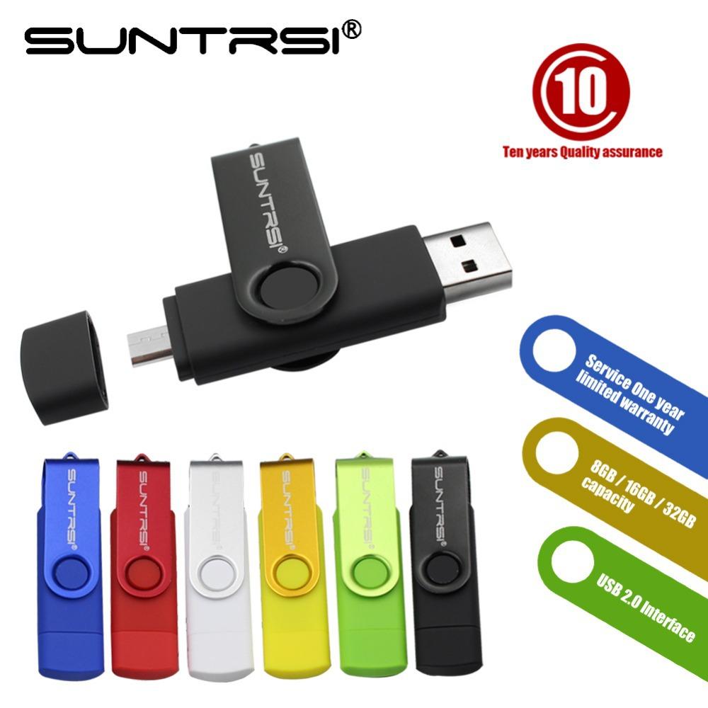 Suntrsi USB Flash Drive OTG 4GB/8GB/16GB/32GB PenDrive Smart Phone Memory Stick Tablet PC Pen Drive External Storage U Stick(China (Mainland))