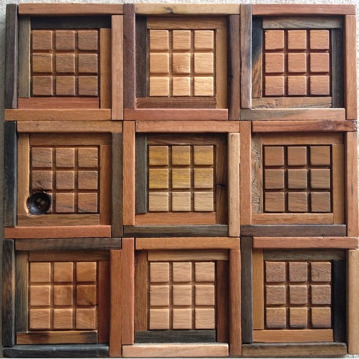 Wood Tile Kitchen Backsplash: 100% Natural Wood Tile, Wooden Mosaic Kitchen Backsplash