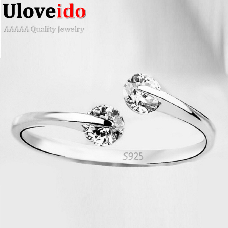 Resizable Rings Female for Girls Women Zirconia Jewellery Aneis Femininos Crystal Anel Anillo Gifts for the New Year 2017 Y081