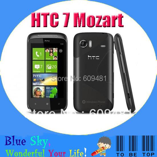 "HTC 7 Mozart T8698 Windows Phone 7 OS 3G WiFi 8MP CMOS GPS 3.7"" SLCD Touchscreen Unlocked Refurbished Mobile phone Free Shipping(China (Mainland))"