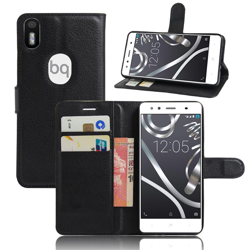 Case BQ Aquaris X5 Plus Wallet Flip Leather Case Card Slots Stand Holder Cover BQ Aquaris X5 Plus Mobile Phone Bag