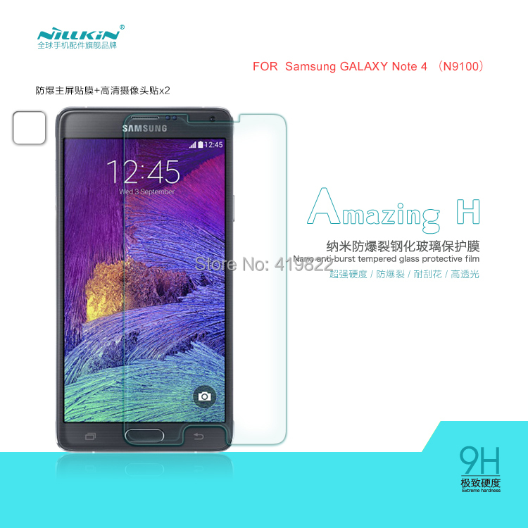 NILLKIN Amazing H Nanometer Anti-Explosion Tempered Glass Screen Protector Samsung GALAXY Note 4 N9100,MOQ: - cellphone case Boutique discount store