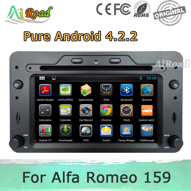 pure android 4 2 2 car dvd for alfa romeo 159 sportwagon. Black Bedroom Furniture Sets. Home Design Ideas