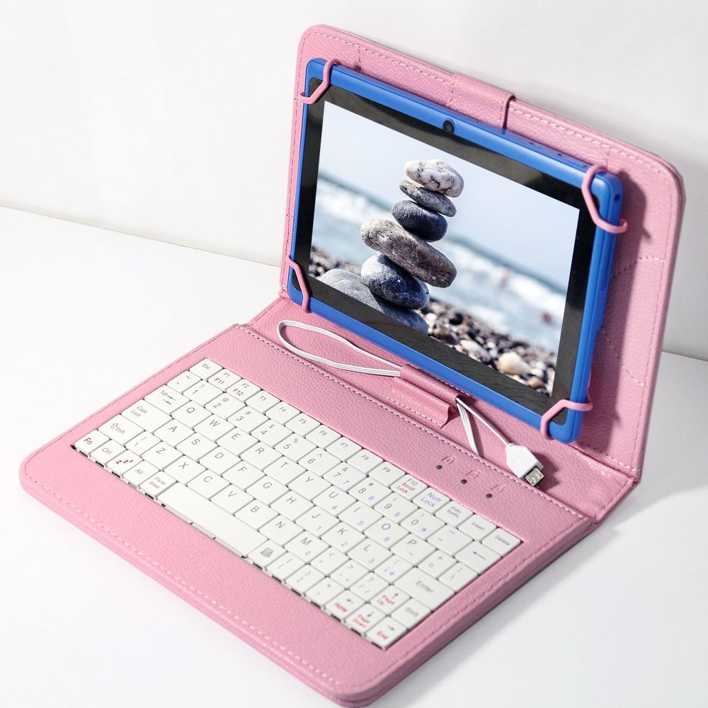 Pink Keyboard Case 7 inch for universal tablet pc, Leather ...