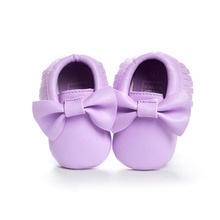 Handmade Soft Bottom Fashion Tassels Baby Moccasin Newborn Babies Shoes 19-colors PU leather Prewalkers Boots(China (Mainland))