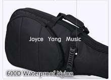 Astraea Black Electric Guitar Bag 600D Nylon Oxford 10mm Thick Sponge Electric Guitar Soft Case Gig Bag Free Shipping(China (Mainland))