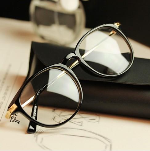 Black Frame Glasses Trend : Vintage glasses boys black frame myopia trend womens full ...