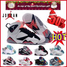 2016 2016 new air jordan 7 retro shoes women euro size 36 to 40 US 5.5 to 6.5 7 8 8.5 with original box(China (Mainland))