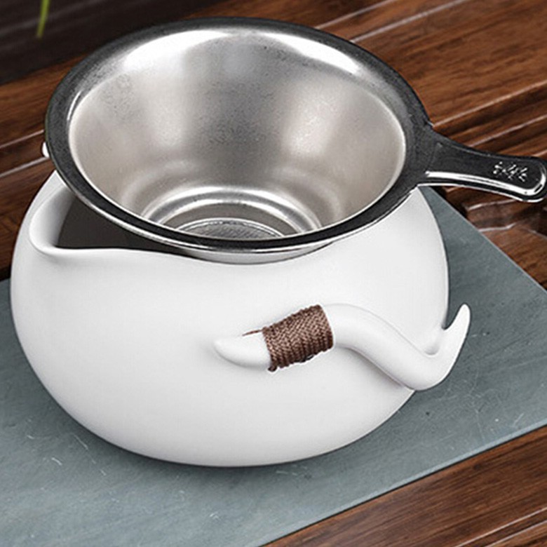 Professional Classic Practical Stainless Steel Tea Strainer Locking Tea Spice Herbal Mesh Balls Diam 3 0cm
