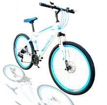 2015 New Arrival Lowest Pirce Brand Quality Bicileta Moutain Bike 26 inch Double Disc Brake MTB Bicycle 150kg Max loading(China (Mainland))