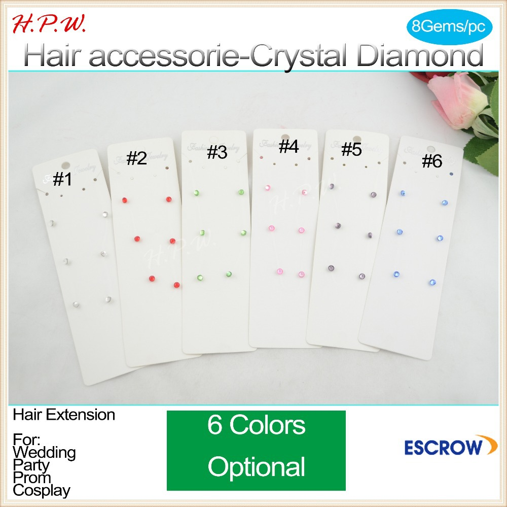 Wholesale 200pcs 11inch-28cm, 8 genuine Sparkle Crystal Hair Bling Magnetic Extension Gem Jewelry Strands 6 Colors Optional<br><br>Aliexpress