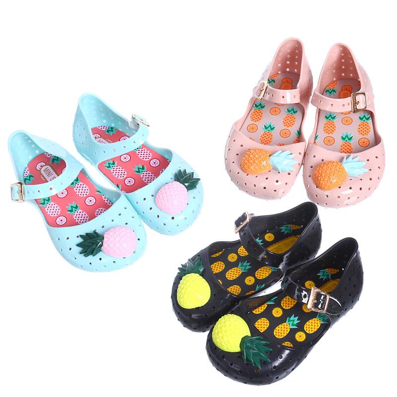 Mini melissa FURADINHA VII girls sandals Hollow sweet smell pineapple kids shoes  US size 6-11 for children<br><br>Aliexpress