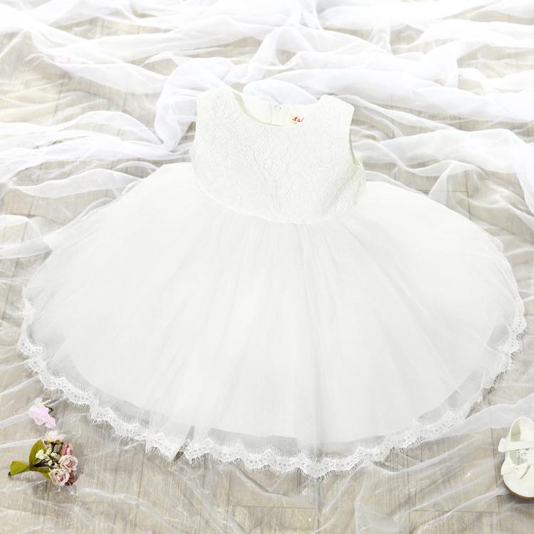Korean childrens princess dress vogue big bowknot embellished girls dress Sleeveless lace gauze girls formal dress(China (Mainland))