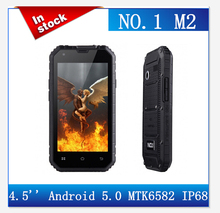 New arrival NO.1 M2 13MP Rugged Waterproof IP68 4.5'' MTK6582 Quad Core 1GB RAM 8GB ROM Phone Cellphone in Stock(China (Mainland))