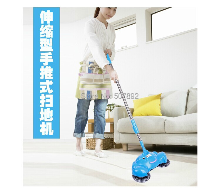 Гаджет  Free Shipping! Pushing Sweeper Vacuum Cleaners Household floor cleaner Manually cleaning machine Do not bend over no electricity None Бытовая техника