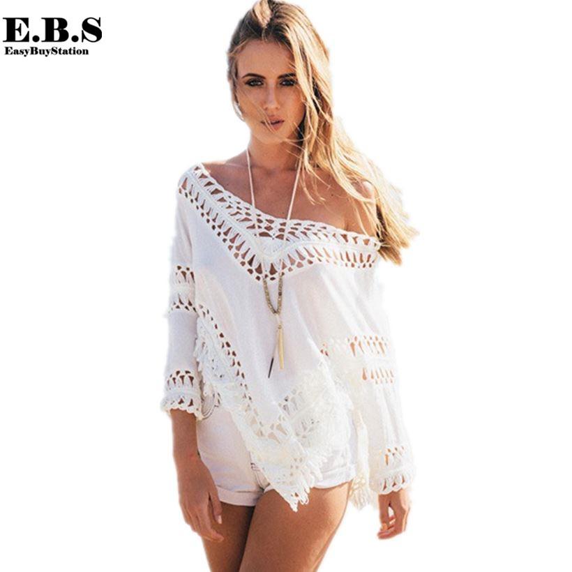 Cotton Bathing Suit Cover-Ups Blouses - Blouse Styles 9a77e31c0c