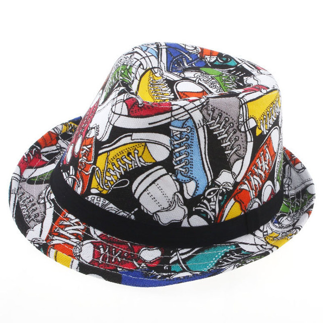 Новое панама Fedora для мальчиков девочек джаз шапки мужская Верх Hat дети цветочные ...