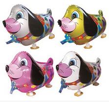 500pcs/Lot, Free Shipping, Pug, Lap Dog Pet Walking Animals Balloons Helium Mylar Balloons, Baby's toy, Party Decoration. .(China (Mainland))