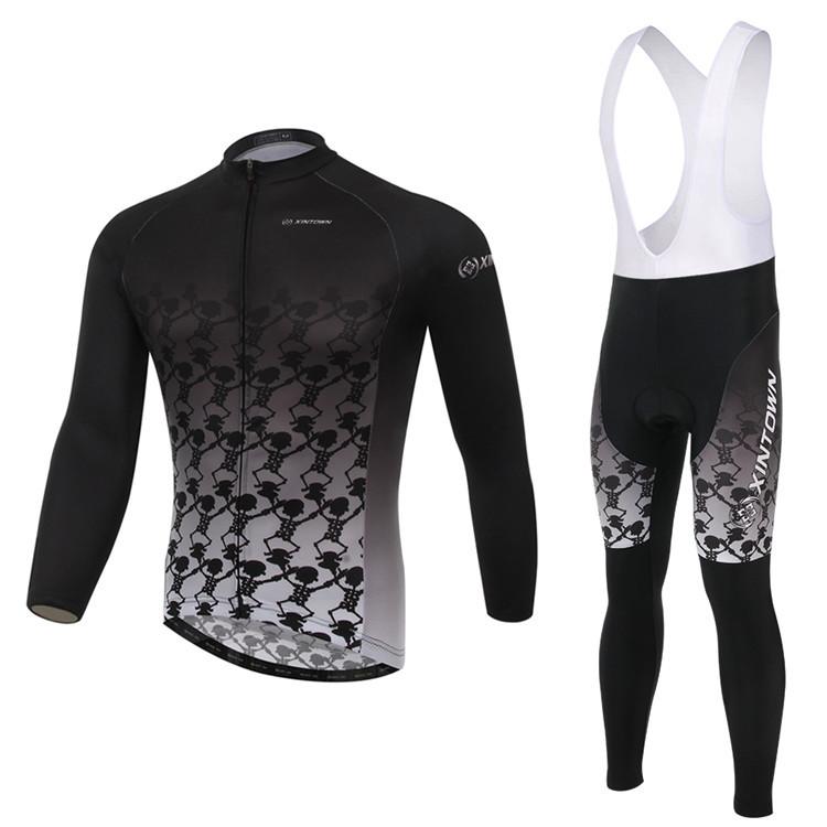 New 2015 Men's Polyester Full Cycling Jerseys Bib Pants 3D Gel Pad DH Trekking Mountain Bike Bicycle Sports Sets Cycle Clothing(China (Mainland))