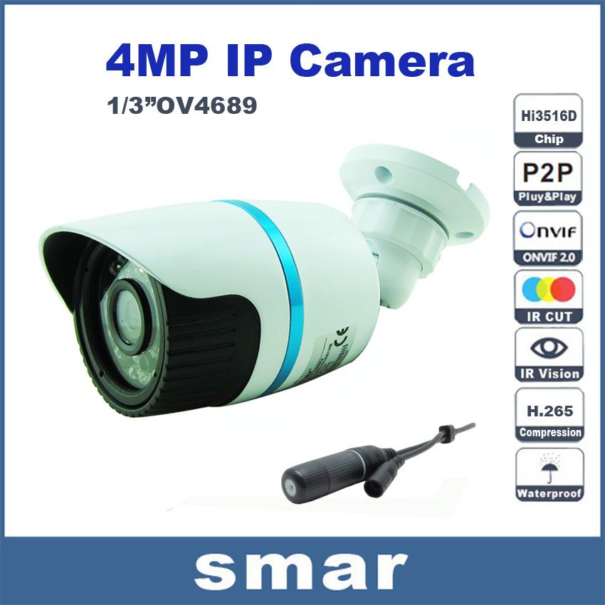 Гаджет  Hi3516D+OV4689 4MP IP Camera H.265 Onvif 4 Megapixel Mini Bullet IP Camera Outdoor IR CUT P2P Cloud Waterproof Network Interface None Безопасность и защита