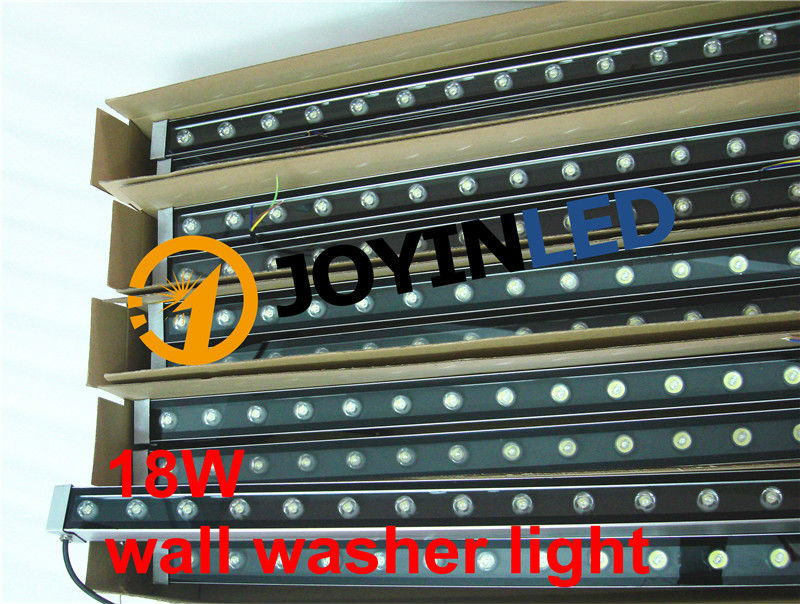 Фотография 18W LED Wall Washer Lights Warm white1w High power LED 100mm*46*46mm AC85-265V IP65 Waterproof RGB Floodlight Outdoor Lighting