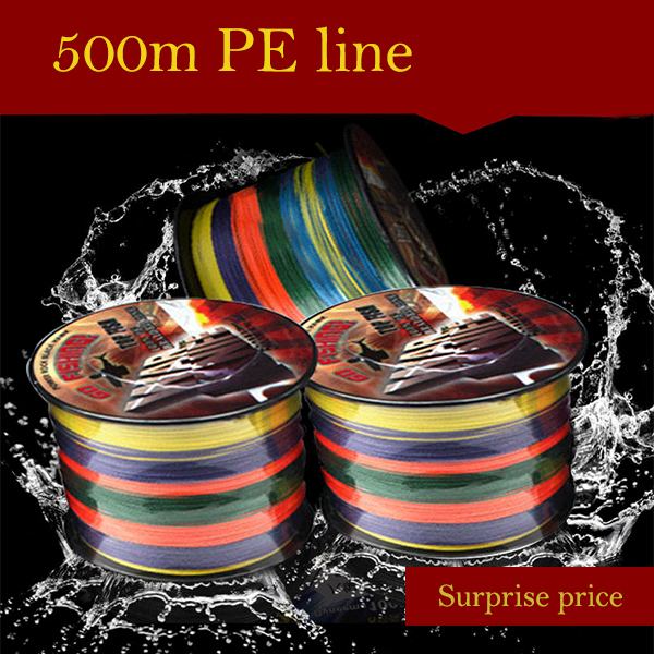 Manufacturers selling 500 meters colorful vigorously horse fishing 4 shares of PE braided line bite proof color road sub line<br><br>Aliexpress