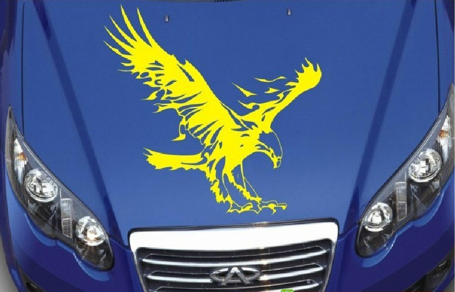 Free shipping Personality wings of the eagle automotive molding materials reflective sticker KK eagle totem eagle cover stickers(China (Mainland))