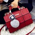 suture Boston bag inclined shoulder ladies hand bag women PU leather handbag sac 2016 woman bags