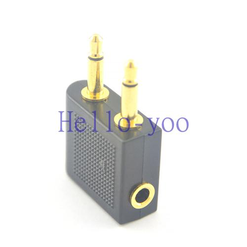 5pcs/lot Airline Airplane Earphone Headphone Headset Jack Audio Adapter 3.5mm(China (Mainland))