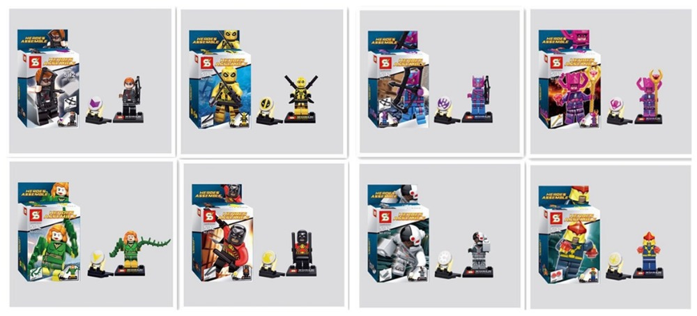 SY258 Super Heroes Avengers Minifigures Building Blocks Assemble Bricks action baby Toy Children - Dina INC Store store