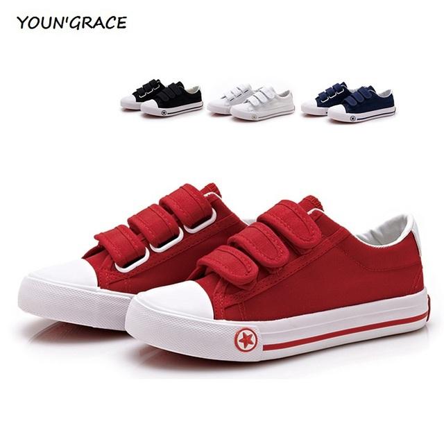 2016 оригинал новый дети парусиновые туфли мальчиков липучке пары тапочек кроссовки ...