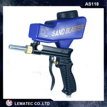 LEMATEC Hand held Portable Air Sandblaster Gravity Feed Sand Blaster for remove rust paint and so on hot sell air tools(Taiwan)