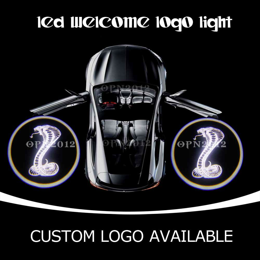 Cobra Venomous Snake Laser Logo LED Door Courtesy Laser Projector Ghost Shadow Light For CADILLAC CTS MUSTANG ODYSSEY 2210 White(China (Mainland))