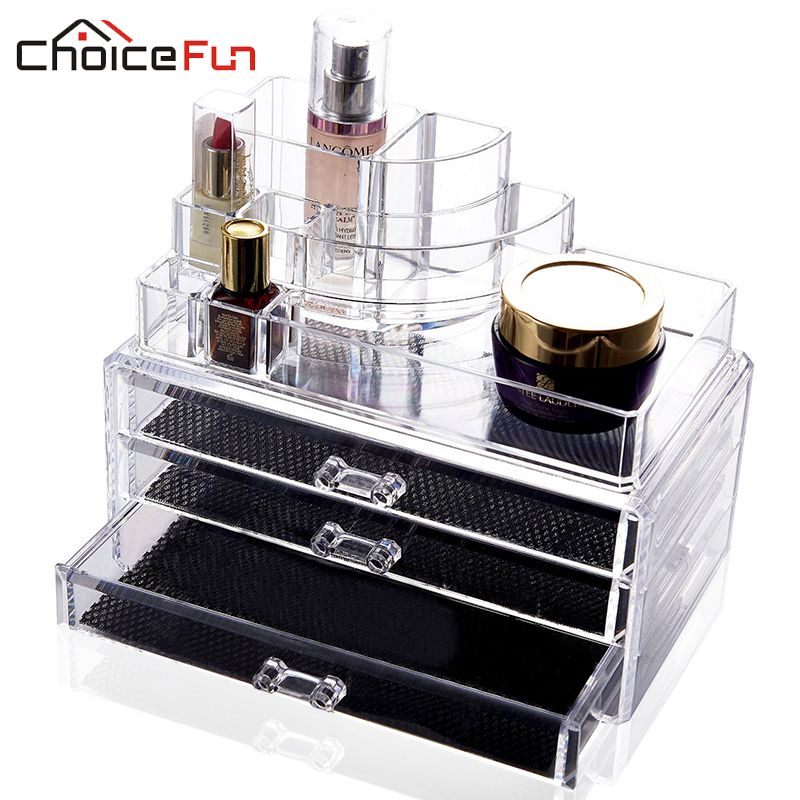 CHOICEFUN Acrylic makeup organizer storage box cosmetic organizador de maquiagem makeup storage drawers SF-1303(China (Mainland))