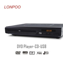 LONPOO Newest Black Portable USB2.0 DVD Player External DVD Burner Rom Drive Multimedia Digital DVD TV Support HDMI Function(China (Mainland))