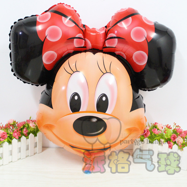 2pcs Mickey mouse Red bowknot minnie Head balloon Helium Balloons for party decoration kids toys(China (Mainland))