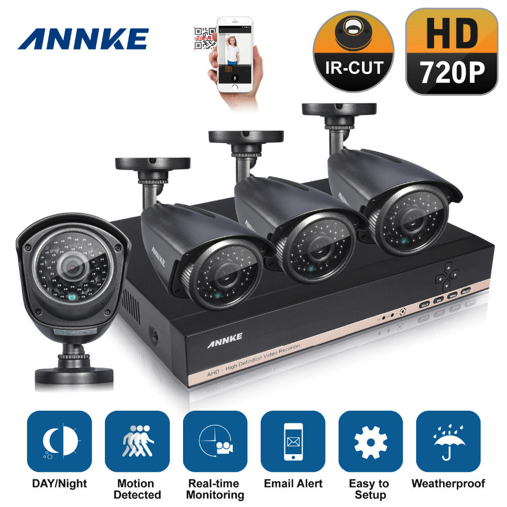 ANNKE 8CH HD 960P Video DVR IR Outdoor CCTV Home Security Camera System(China (Mainland))