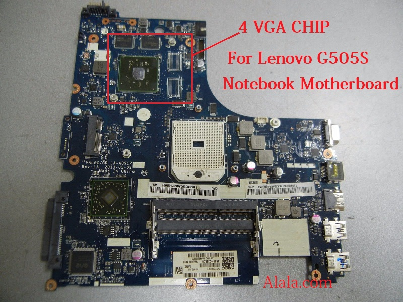 Free Shipping For Lenovo G505S Notebook Motherboard VALGC GD LA-A091P Main board with 4 VGA CHIP