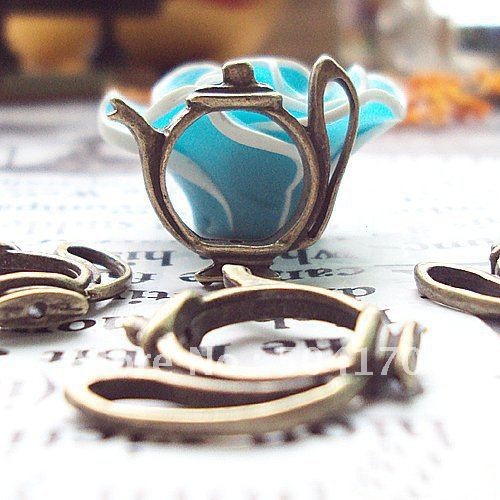 23mm Teapot-Shaped Antique Brass Jewelry Spacers Fashion Jewelry Findings Accessory 500pcs/lot Wholesale CXY106<br><br>Aliexpress