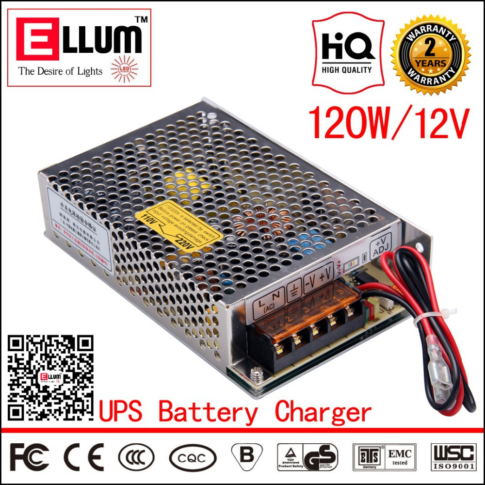 Гаджет  SC-120-12 UPS 12V Output Battery Charger  AC DC CE ROHS Approval CCTV 120W 8A Switching Power Supply with 12V UPS Function None Электротехническое оборудование и материалы
